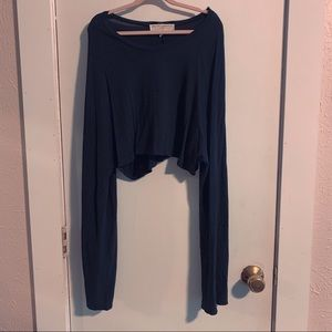 Urban Outfitters Bell Sleeve Crop Top